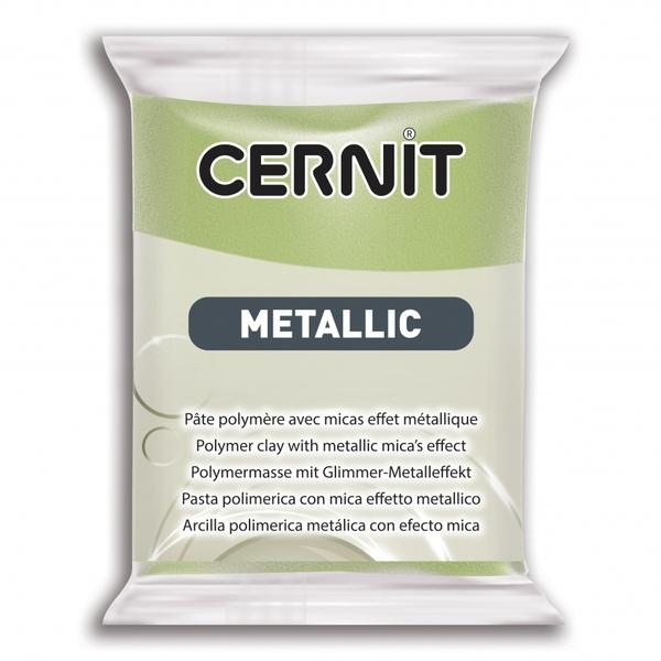 Arcilla Polimérica Cernit Metallic Oro Verde