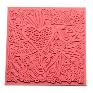 Placa de Textura Corazones