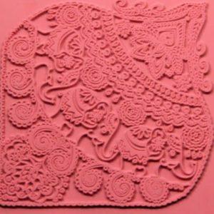 Placa de Textura Elefantes Indios