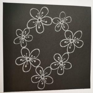 Stencil corona de Flores