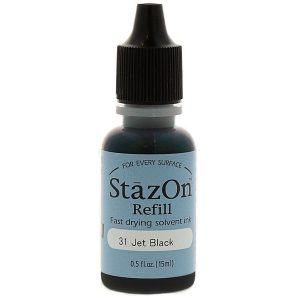 StazOn Tinta 15ml Jet Black