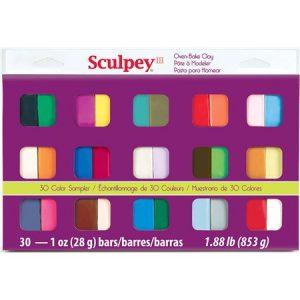 estuche sculpey III 30 colores de 28gr