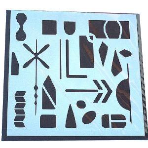 Stencil Abstracto Flecha