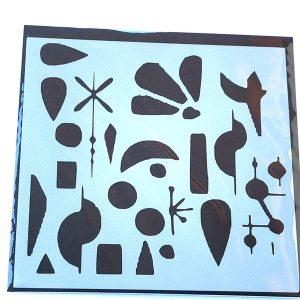 Stencil Inspiración Miró Circulo