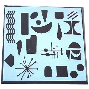 Stencil Inspiración Miró Ondas