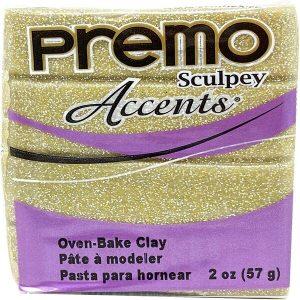 Arcilla Polimérica Premo Accents Amarillo Brillante Purpurina
