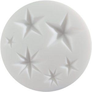 Molde silicona Cernit estrellas