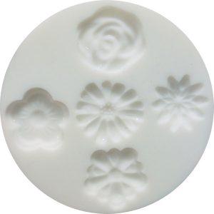 Molde silicona Cernit flores